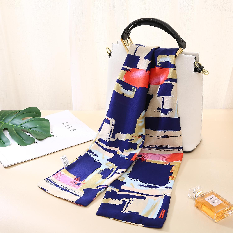 Neck silk scarves