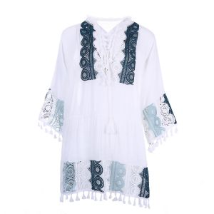 YG006 White with dark Green lace