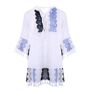 YG006  White with Blue lace
