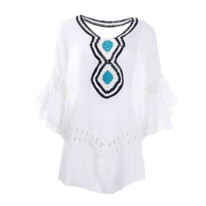 YG002 White with turquoise