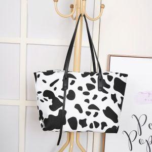 2092 Cow print shopper bag