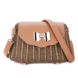 125 Natural starw bag in Brown