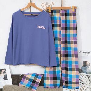 PJA021 Tartan check pyjamas Blue