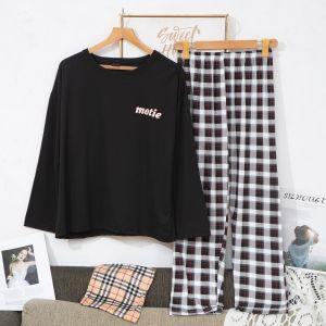 PJA021 Tartan check pyjamas Black