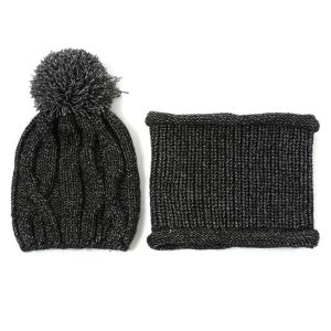 SD60 Hat and snood set in Black