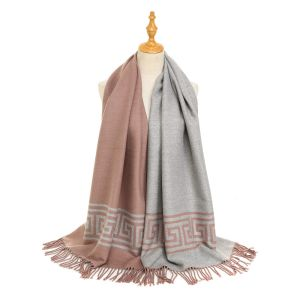 HUA043 Nude/Grey Square patterned