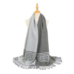 HUA043 Silver/Grey square patterned