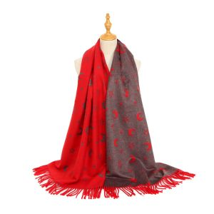 HUA046 Stars and Moons Red/Burgundy