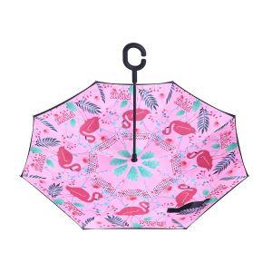 F901-5 Tropical flamingos Pink