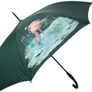 1802 colour change umbrella Green flamingos