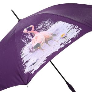 1802 colour change umbrella Purple flamingos