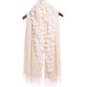 M304 Pom pom wrap in Cream