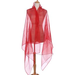 JS01-5 double layer plain silk in Red