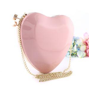 201801 Heart shaped clutch bag