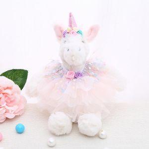B32 unicorn in Multi coloured dress