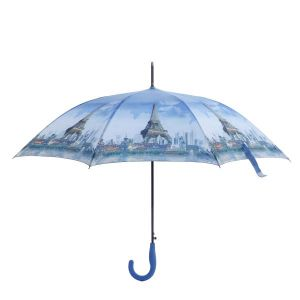 1589 Eiffel tower and scenery print Blue