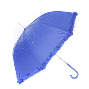 TW09 Royal diamante frilly umbrella