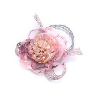 HAI14 hair bobbles with cluster beads in Pink