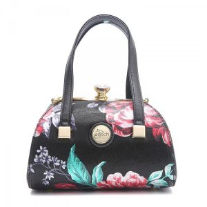 61329 Red/ Green floral leather