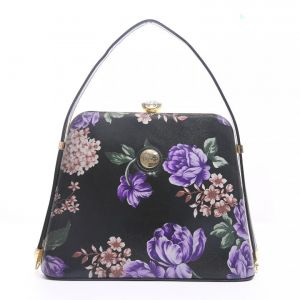ZW60119 Purple floral leather print