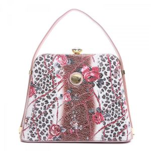 ZW60119 Pink leopard leather print