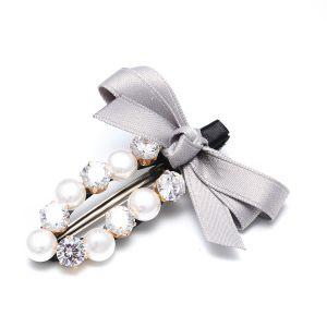 HA48 Pearls with Silver ribbon