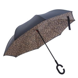 F716 Leopard reverse umbrellas