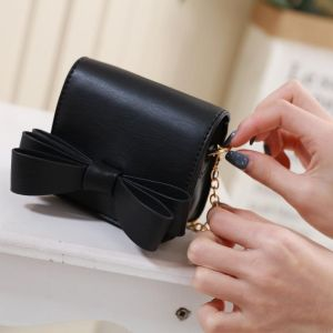 870 Mini  Coin Purse with bow detail in Black
