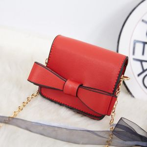 870 Mini Coin Purse with bow detail in Red