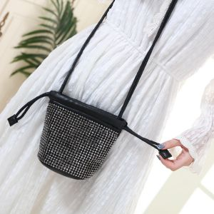 207 Black crystal pouch