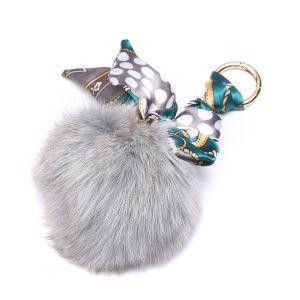 3010 Fur pom pom in Silver