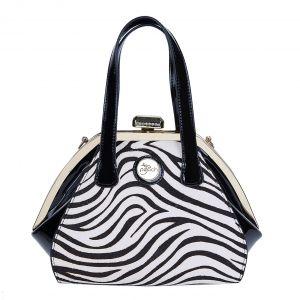 CD4076 pony skin Black White zebra print