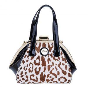 CD4076 pony skin White leopard print