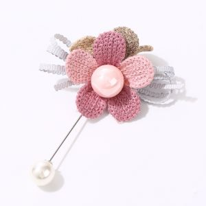 1511 floral pearl pin Pink