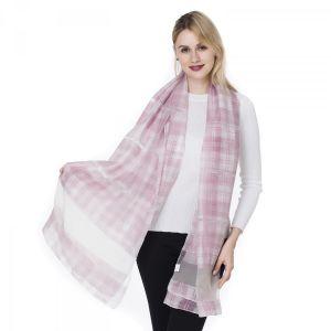HUA4 Silk tartan in baby Pink