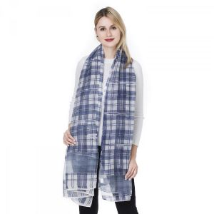 HUA4 Silk tartan in baby Blue