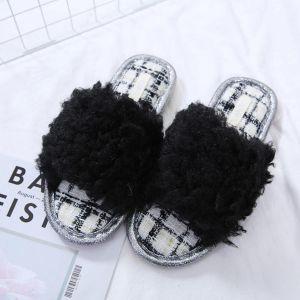 1928 Black curly fluffy fur