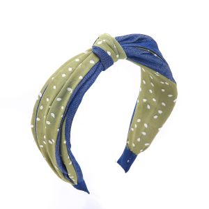 HA104 Denim with spotty Green