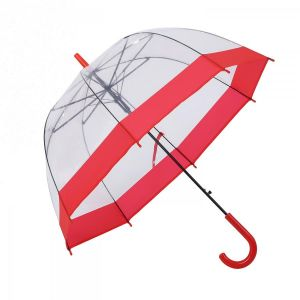 3466A Birdcage Domed Umbrella Red