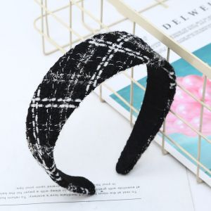 HA194 Black with White mix tweed hair bands