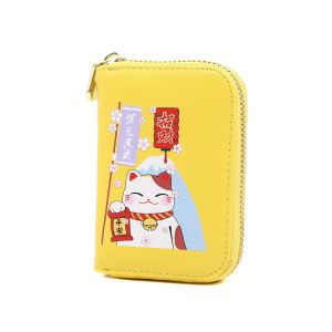 pur015 Lucky fortune Chinese cat in Yellow