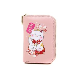 pur015 Lucky fortune Chinese cat in Pink