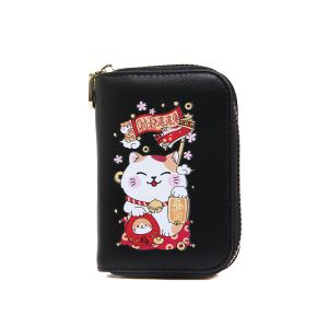 pur015 Lucky fortune Chinese cat in Black