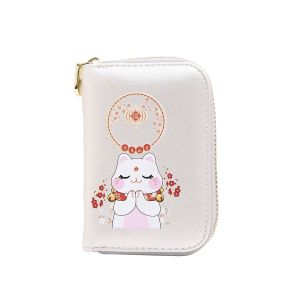 pur015 Lucky fortune Chinese cat in White
