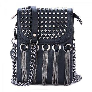3087 Black genuine leather