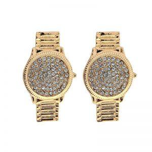 ER037 crystal watch design earnings in Gold
