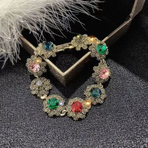 ER042 Multi coloured crystal bracelet