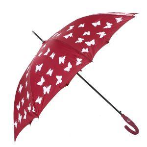 1808-2  Colour Changing Umbrella butterflies Wine