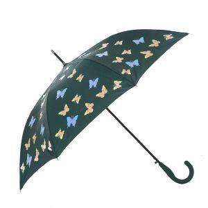 1808-3 Colour Changing Umbrella butterflies dark Green
