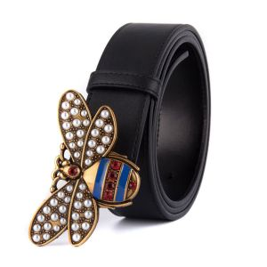 Bel003 multi strip bee style leather belt
